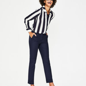 NWT Boden Kensington Turn-Up Trousers - Navy